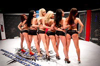 Pre-Fight Girls and Sponsor Logos