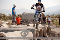 MotoTrials action from the Jordan River OHV Park in Salt Lake City Utah