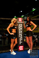 Ring Girls with Sponsor Banners
